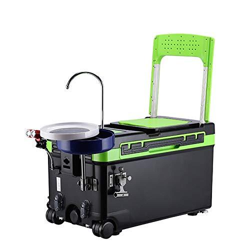 Subobo Fishing Bucket, Vissersdoos Multifunctionele Verdikking Lifting Platform Vissersdoos Verpakt Vislicht Voor Outdoor Groen Eenvoudig op te bergen en te gebruiken