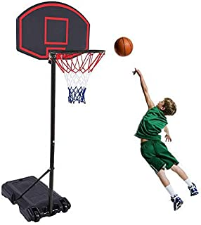 GreenGee Portable Basketball Hoop Portable Mini Basketball Hoop System for Kids(US Stock) Height Adjustable(5.8-7.4 ft) Basketball Hoop Indoor Outdoor Basketball Hoop System…