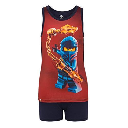 LEGO Jungen Ninjago cm Unterwäsche Set Thermounterwäsche-Set, per Pack Blau (Dark Navy 590), 104 (Herstellergröße: 104)