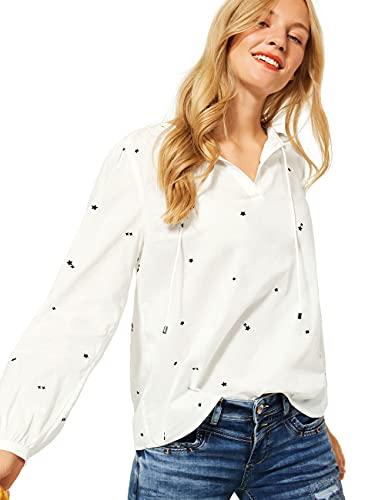Street One Damen 342751 Bluse, Off White, 40
