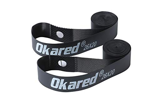 Okared 2PCS Bicycle Rim Strip 26'' /Bicycle Tire Liner/Bicycle Inner Tube Pad Rim Liner/Inner Tube Tyre Guard Cushion Pad Protector
