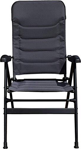 Woodtree Osoltus Comfort Plus - Silla Plegable de Aluminio para Camping, Color Negro