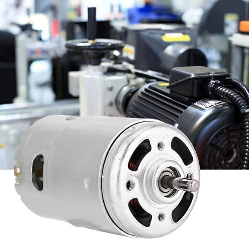Motor DC, Motor de bajo Ruido 12V 6000 RPM Herramienta eléctrica Motor en Miniatura para máquinas de Correa para tornos para fresadoras