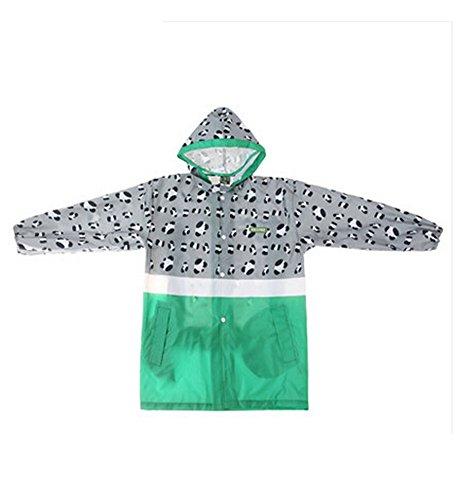 Korean Lovely bébé imperméable Mode enfants pluie Gris Imprimé léopard S