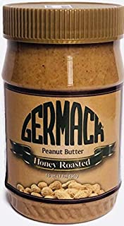Germack Pistachio Company, Honey Roasted Peanut Nut Butter, 16 ounce plastic jar