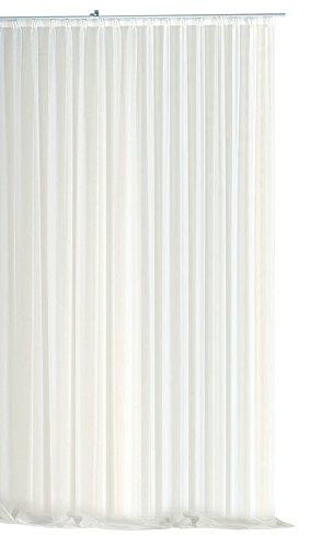 Haus und Deko Gardine Kräuselband Emotion weiß transparent 300 x 245 cm Organza Vorhang klassisch kurz mittel oder lang Voile Store
