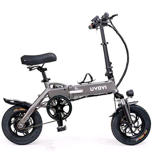 BIKE Electric Bicycle, Folding E-Bike - 12-Inch Ultralight Electric Bicycle 15Kg, 350W Motor 48V8A Lithium Battery, Maximum Speed 30Km/H