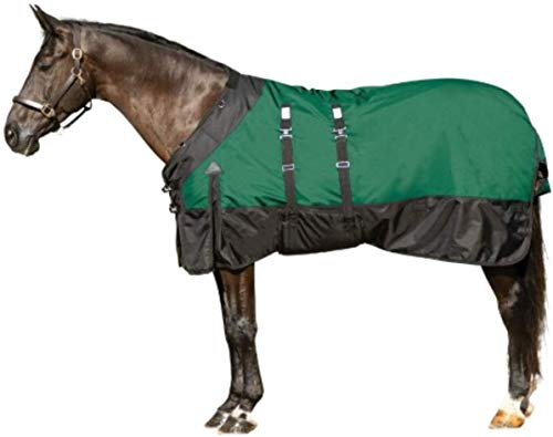 STORM SHIELD Extreme Horse Turnout Blanket | Medium Weight - 220 Grams | Size 76 - Green | 1680 Denier | Contour Collar | Euro Fit | Bellyband | Waterproof, Windproof & Breathable