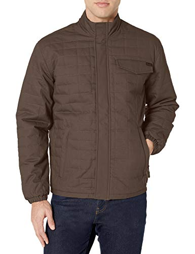 Wrangler Men's Chore Jacket, Dark Brown, X-Large
