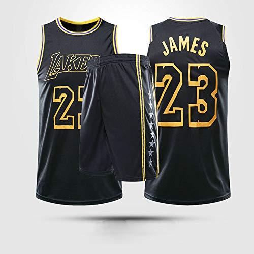 Jersey Men's, NBA Los Angeles Lakers # 23 Lebron James - Niño Uniformes De Baloncesto para Adultos Clásicos Camisetas Deportivas Sin Mangas Y Chaleco Cómodo Tops Set,XL(Child) 145~155CM