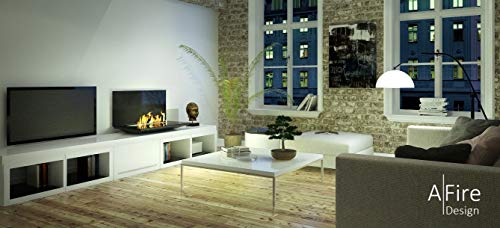 Fantastic Deal! aFire LOFT Smart Ethanol Fireplace with Remote (Stainless Steel, M (27.6 x 19.3 x ...