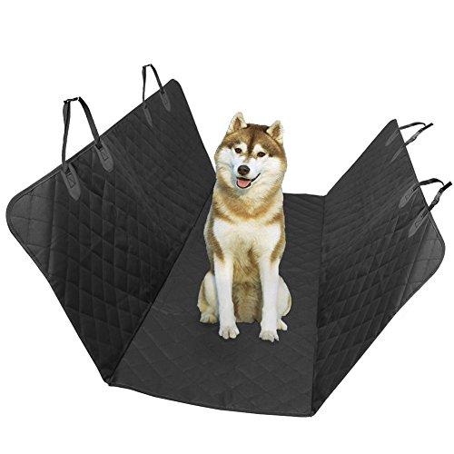 Generic Black Waterproof & Nonslip Backing Car Pet Seat Cover Hammock Convertible Pet Mat for Cars