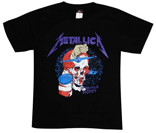 メタリカ/DAMAGED JUSTICE/METALLICA/ロックTシャツ/バンドTシャツ/メンズ/レディース (M)