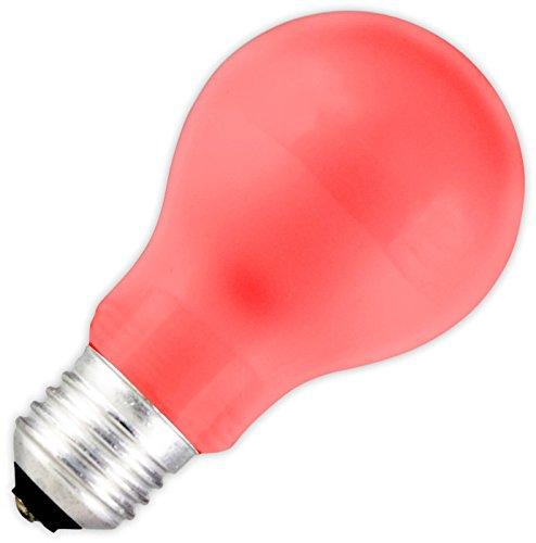 Rood LED GLS spaarlamp 1 W/E27 20.000 uur van de lamp is direct klaar voor gebruik.