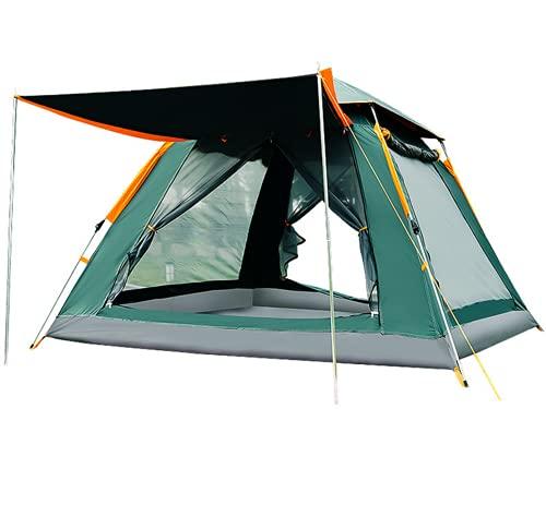 WSMM Tienda de Campaña para 4-8 Personas Ligera Impermeable Portátil Pop up con Bolsa de Almacenaje Trekking Campamento Playa,Green1,Basic Style