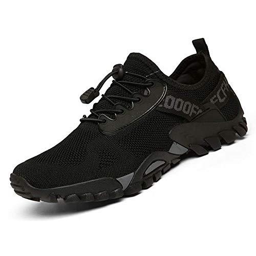 ABAO Hiking Shoes Men Women Outdoor Sports Shoes Non-Slip Breathable Sneakers Low Top Walking Shoes for Outdoor Trailing Trekking Walking Climbing Travel Lightweight Black 10.5 Women/8.5 Men