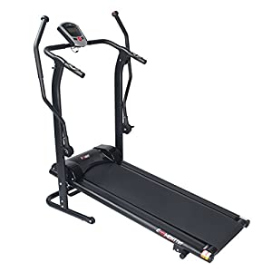 EFITMENT Adjustable Incline Magnetic Manual Treadmill w/Pulse Monitor