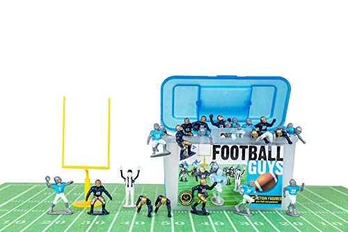 Kaskey Kids Football Guys: Navy vs. Gray – Inspires Imagination with Open-Ended Play – Includes 2 Full Teams and More – for Ages 3 and Up