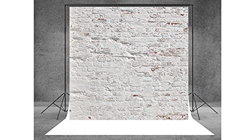 WaW Fotografie Canvas Studio Achtergrond Abstract Grijs Bakstenen Muur Grunge, Foto Video Achtergrond Stof Bruiloft Portret 3x3m