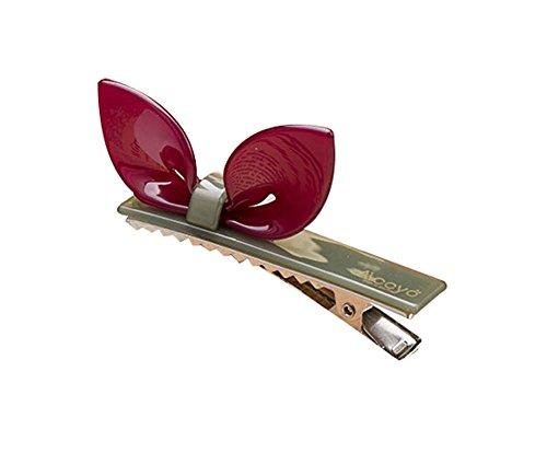 Lot de 2 Rabbit Ear Hair Pin Fashion Hair Clip/Hairpin, Rouge