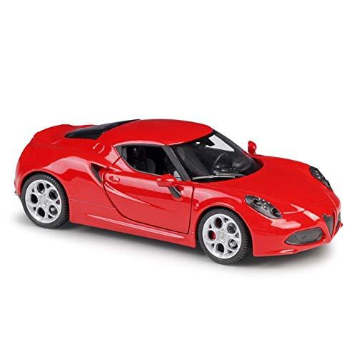 BECCYYLY Diecast Model Car 1:24 para Alfa para 4C Roadster Alloy Car Modelo Diecasts Vehículos de Juguete Recoge Regalos Transporte Modelo de Coche de Casting (Color: Blanco) wmpa (Color : Red)