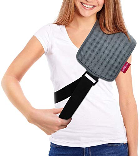 Heating Pad with Straps for Pain Relief, 3 Heat Settings, Auto Shut Off, Moist Heat for Your Body Parts