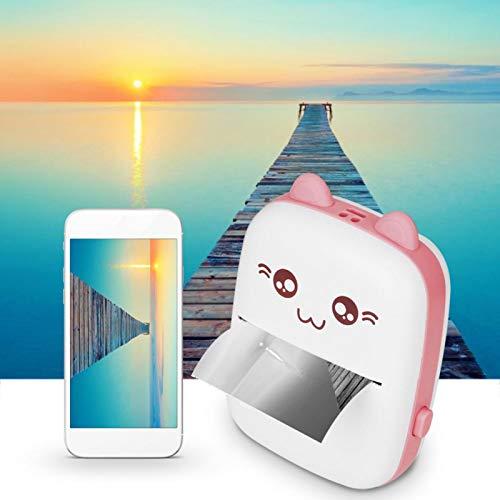 Kudoo Mini Impresora fotográfica, Impresora de Bolsillo, reconocimiento de Texto multifunción de teléfono móvil para grabación de Preguntas incorrectas(Pink)
