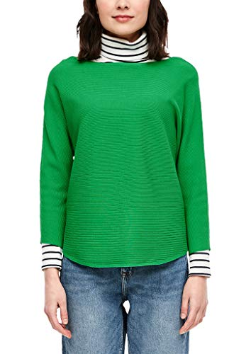 s.Oliver RED Label Damen mit Rippstruktur Regular Fit Rippstruktur, Green, 40