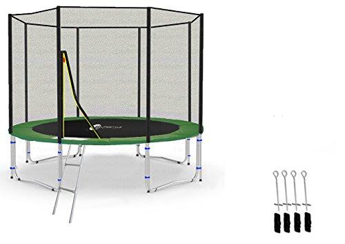 LifeStyle ProAktiv LS-T305-PA10 (GA) Trampolino da Giardino 305cm - incl. Rete di Sicurezza 130g/m² - New