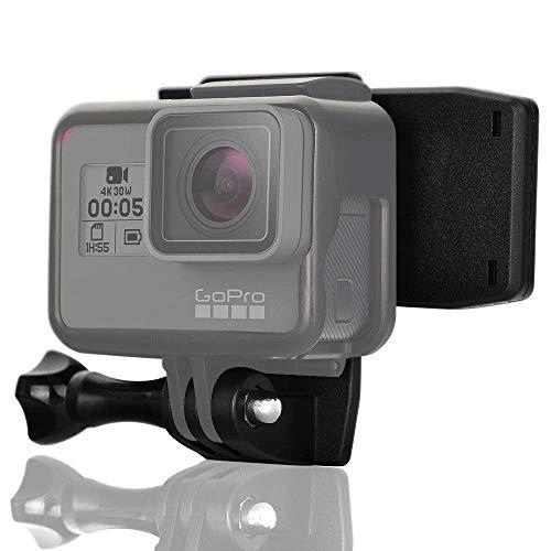 micros2u Pinza con Soporte compatible GoPro, muy resistente. Pivote giratorio 360 grados, liberación rápida, para correas, gorros, bolsos, mochilas. Apta para Hero 8 7 6 5 4 3, Session y otras cámaras