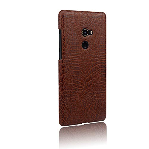 Xiaomi Mi Mix 2 Case, Almiao [Ultra-Thin] Premium PU Leather Slim Protective Phone Case Back Cover for Xiaomi Mi Mix 2 (Brown)
