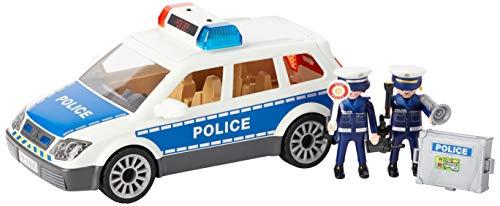 PLAYMOBIL City Action Coche de Policía con Luces y Sonido,