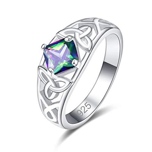 YAZILIND Ladies Rings Elegant Cubic Zirconia Rings Wedding Jewelry for Women Girlfriend(R 1/2)