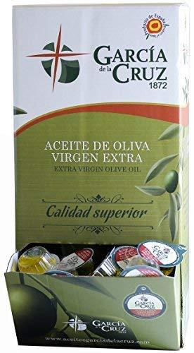 García de la Cruz - Mono Dosis de Aceite de Oliva Virgen Extra - 160 Tarrinas de 10 ml cada una en caja dispensadora