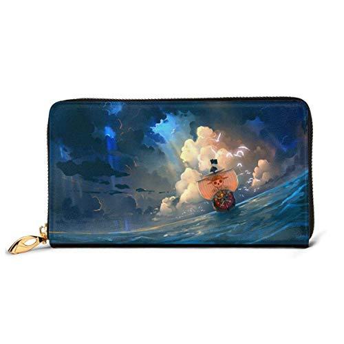 Wallet RFID Zip Genuine Leather Wallet Around Card Holder Organizer Waterproof and Durable Clutch Wallet