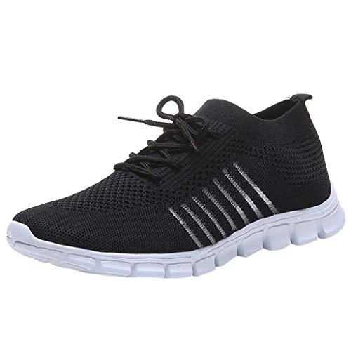 NMERWT Frauen Turnschuhe Fliegen Weben Schuhe Turnschuhe Atmungsaktiv Sportschuhe Freizeitschuhe Student Laufschuhe Wanderschuhe Leichte Mesh Bequeme