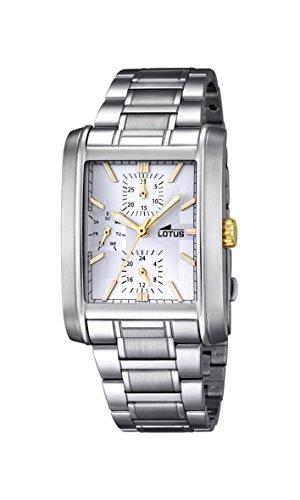 Lotus Herren Analog Quarz Uhr mit Edelstahl Armband 18222/1