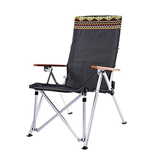 Silla de Camping Plegable, Sillas de Acampada de Aleación de Aluminio Portátil con Respaldo Ajustable y Bolsa de Transporte, Máxima 200kg Grey