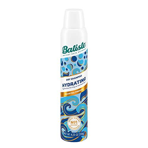 Batiste - Champú seco hidratante en spray, beneficios para el cabello seco quebradizo, sin necesidad de enjuagar, para refrescar el cabello entre lavados, 200ml
