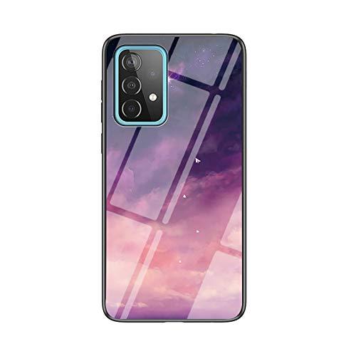 NEINEI Funda para Xiaomi Redmi 9C,Carcasa Ultra-Delgado Ligera Anti-arañazos y Antideslizante Protectora Sedoso Caso,Diseño de Patrón de Cielo Estrellado Case Cover,TPU/PC-4