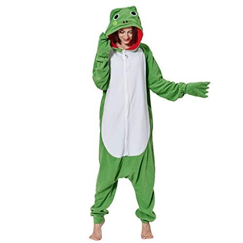WANGLXPA Weicher Frosch Onesie Jumpsuits Halloween Kostüm Pyjama Oberall Hausanzug Kigurum Schlafanzug Kostüme, M