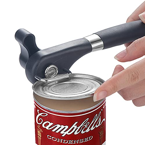 Choxila Can Opener Manual,Smooth Edge,Durable Safety Ergonomic Handle Aid Stainless Can Opener for Restaurant &Kitchen