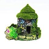HUAYING decoración de acuario Tanque de Peces Acuario Ornamento Dodge Casa Flocado Musgo Pequeño Agujero de Árbol Encantadora decoración de casa