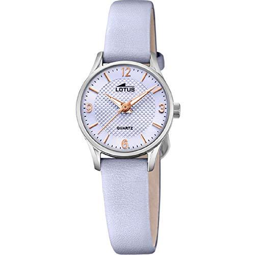 Lotus Damen Analog Quarz Uhr mit Leder Armband 18573/D