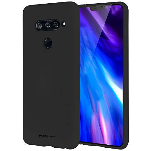Goospery Soft Feeling Jelly for LG V40 ThinQ Case (2018) Silky Slim Bumper Cover (Black) LGV40-SFJEL-BLK