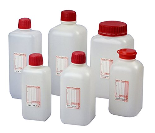 Gosselin FC520-02 Water Sampling Bottles, HDPE, 500 mL Undosed (Pack of 100)