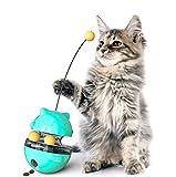 Tumbler Interaktives Futterspender Katzenspielzeug,Snackball für Katzen zum Langsamen Füttern,...
