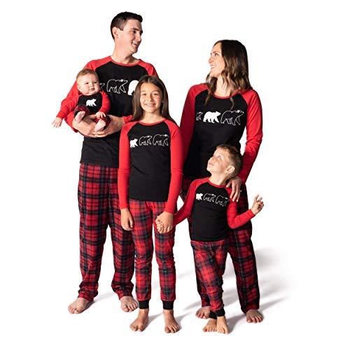 JumpOff Jo - Matching Family, Mens, Womens, Kids, Infant Pajamas Set, Bear, Size 5