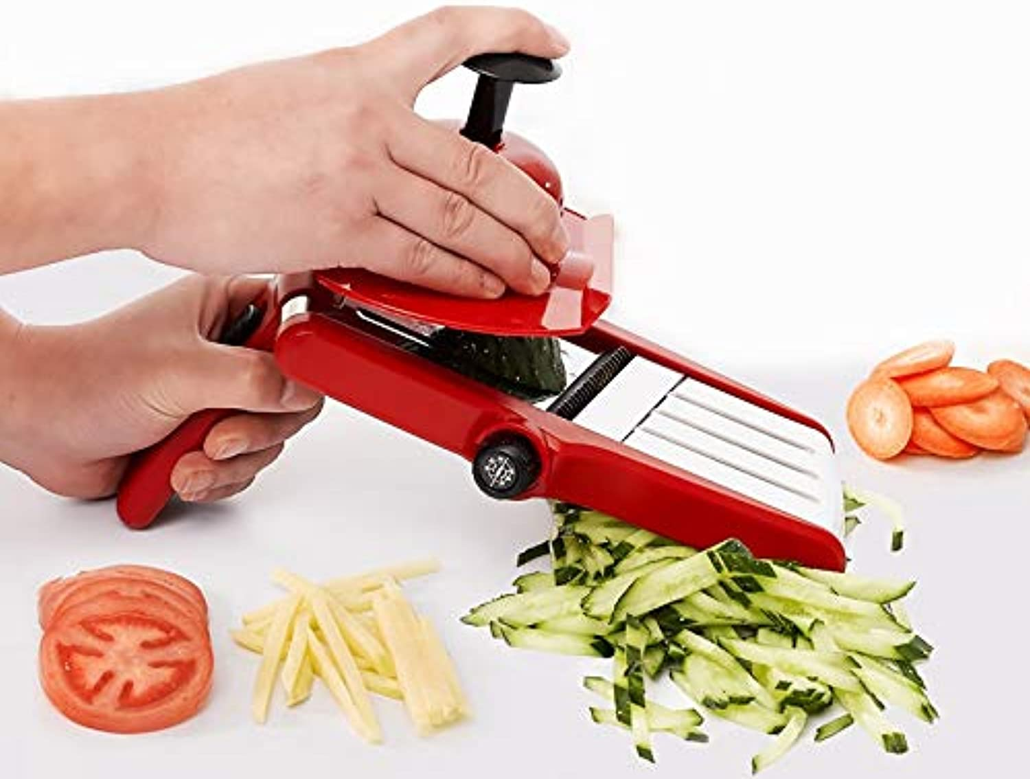 Manual Vegetable Cutter SLR Kitchen Accessories Adjustable Thickness Kitchen Accessories Multifunctional Mandoline KC1692   Random Send color