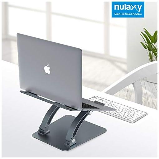 Nulaxy Soporte ergonómico para ordenador portátil, ángulo de altura ajustable 7